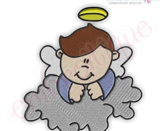 Boy Angels 3 Embroidery Design- Instant Email Delivery Download Machine embroidery design