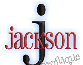 Jackson Monogram Alphabet Font - Great for Boys, and Girls Too-Instant Downlad - machine embroidery file