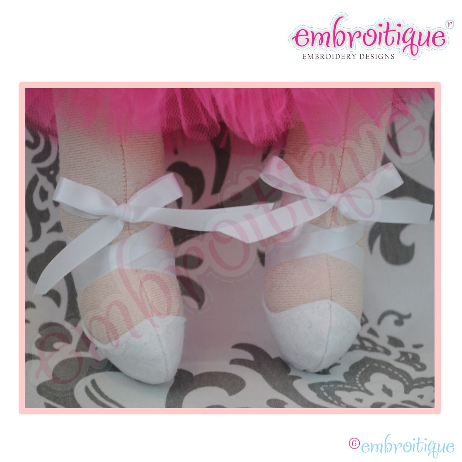 doodley dolls tutus and ballet shoes add-on pdf sewing pattern- instant download