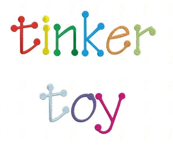 tinker toy monogram set machine embroidery font alphabet