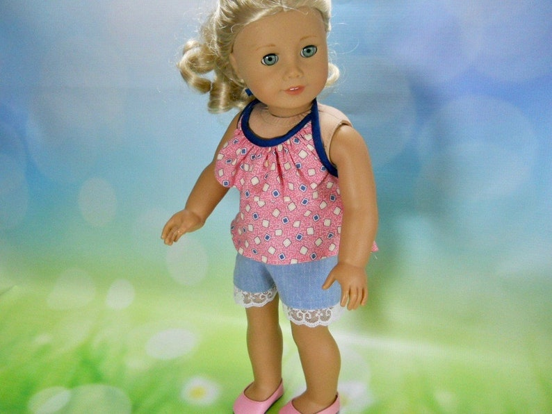 18 inch Doll Shorts and Top Outfit Fits American Girl and Our Generation 04-2930