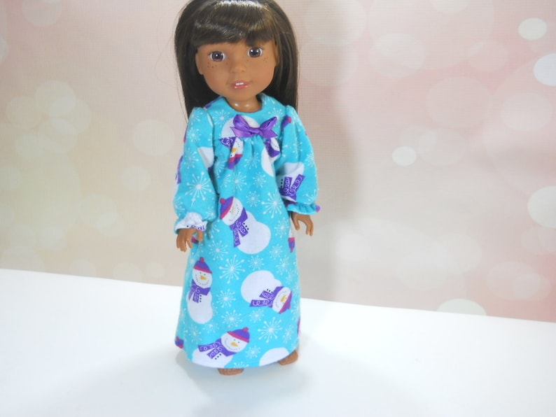 "Snowman Nightgown Pajamas Fits Wellie Wishers 14.5/"" American Girl Clothes"