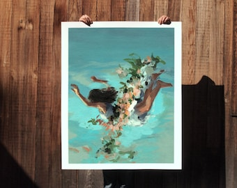 Happiness .  extra large wall art . giclee print . Etsy Design Awards Finalist