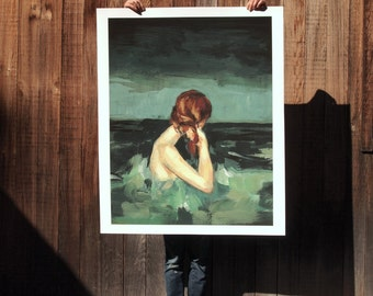 Married to the Sea .  extra large wall art . giclee print