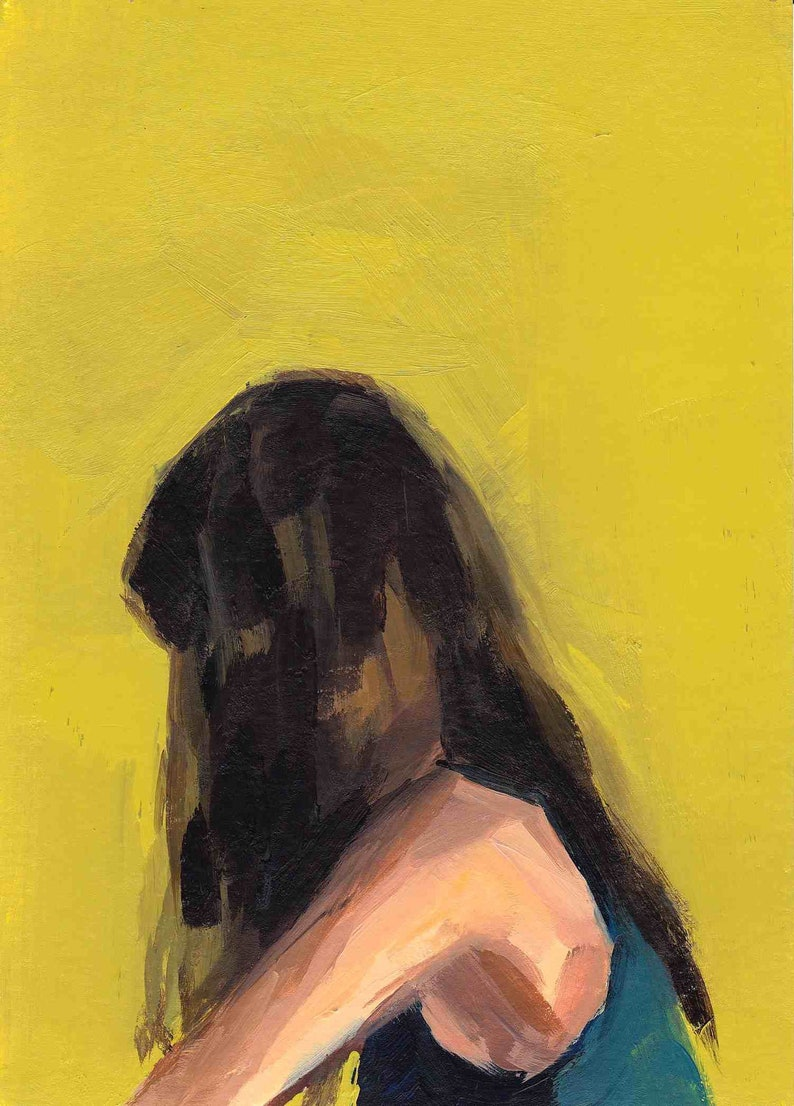 Portrait in Yellow . giclee art print image 0
