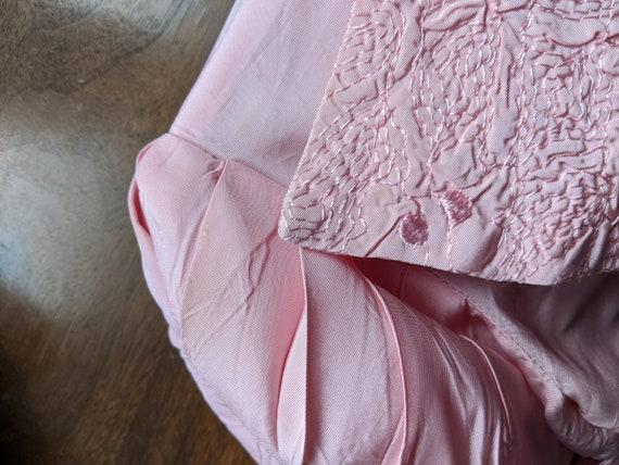 Late 1930s Pink Taffeta Dress & Bolero Set - image 8