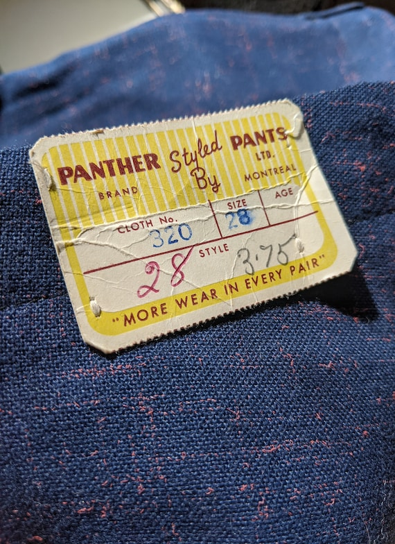 Vintage 1940s Panther Brand Deadstock Boys' Trouse
