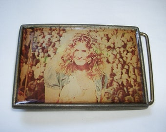 Vintage ROBERT PLANT Led Zeppelin brass Belt Buckle