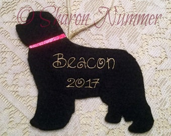 NEW   Personalized Custom Newfoundland Ornament Made To Order