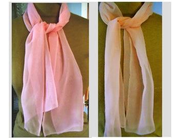 "Handmade Knit Mini Ruffle Scarf Pinks 60/"" Light Spring Easter"
