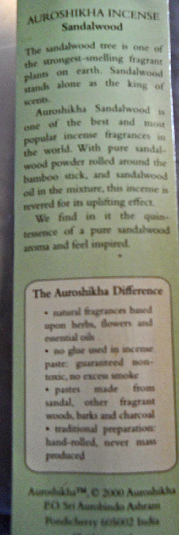 Incense sticks all natural incense sticks the Ramakrishnananda incense  blend made in India vintage incense sticks