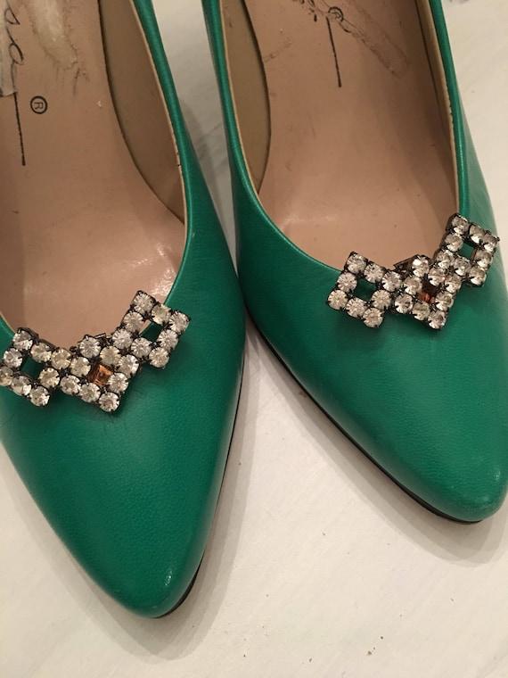 Vintage Rhinestone Shoe Clips