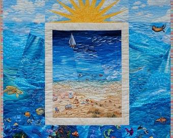 Beach Scene Quilt - PDF Pattern