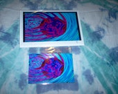 Psychedeilc Greeting Card and Matching Postcard - Unique Gift