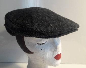 Tweed newsboy cap retro size fits most adjustable Men's or women's