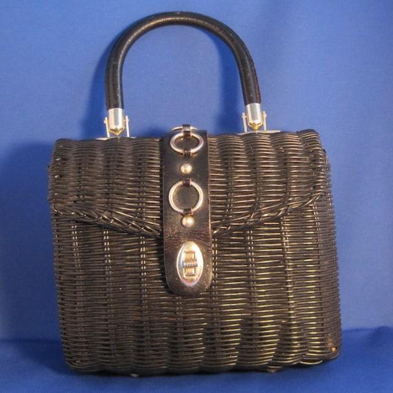 Marchioness Black Vintage Handbag top handle purse