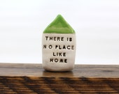 Personalized home decor Mantel decor Shelf sitters There is no place like home Housewarming gift Miniature houses