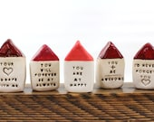 Personalized gift Mantel decor Positive message Inspirational quote house Miniature house Motivational quotes Shelf sitters Office decor