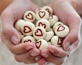Heart favor Wedding favors Round heart pebbles Bridesmaids gift Shower gift