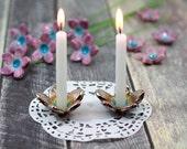 Shabbat candlestick Flower candle holder Holiday decor House warming gift Israel gift
