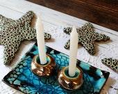 Shabbat candlesticks Ceramic Candle holders Candle holder set Shabbat set Made in Israel