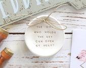 Bridal shower gift, Engagement gift, Wedding gift, Anniversary gift, Ring bearer pillow alternative, Wedding ring dish, Wedding Ring pillow