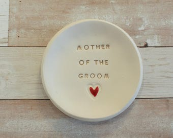 Mother of the groom gift Mother of the bride gift Personalized mother of the bride Gift for mother of the groom Ring dish Mother gift idea