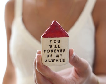 You will forever be my always Anniversary gift Wedding anniversary Engagement gift One year anniversary