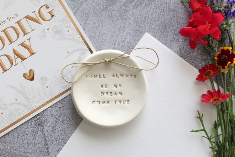 Anniversary gift Wedding ring dish Engagement gift Ring bearer Wedding gift Wedding Ring pillow Ring bearer pillow alternative