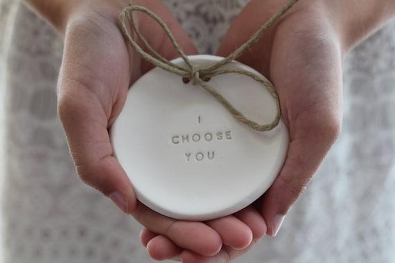 I Choose You Ring Bearer Pillow Alternative Wedding Ring
