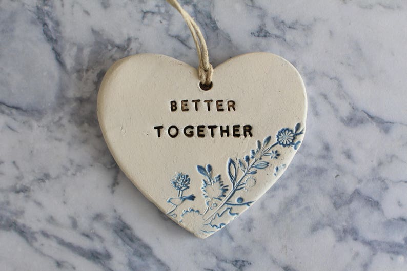 Wedding decor Better together ornament Engagement Gift for couple Wedding sign Rustic decor Ceramic ornament Wedding ornament Wedding props