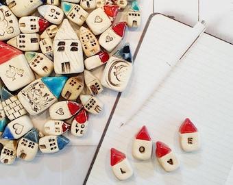 Ceramic miniature houses, Ceramic house, Miniature houses, Fairy garden accessories, Tiny houses, Terrariums & Miniature Gardens