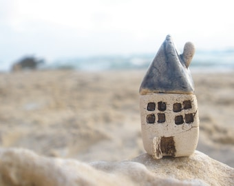 Miniature house A tiny beach cottage Ceramic houses