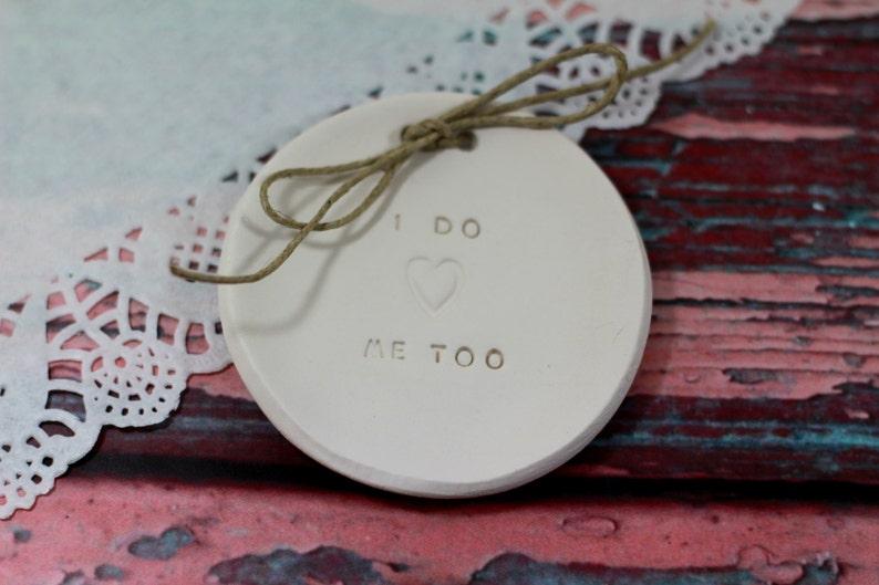 I DO ME TOO Wedding ring bearer Ring dish Alternative Wedding Ring pillow Ring bearer pillow alternative