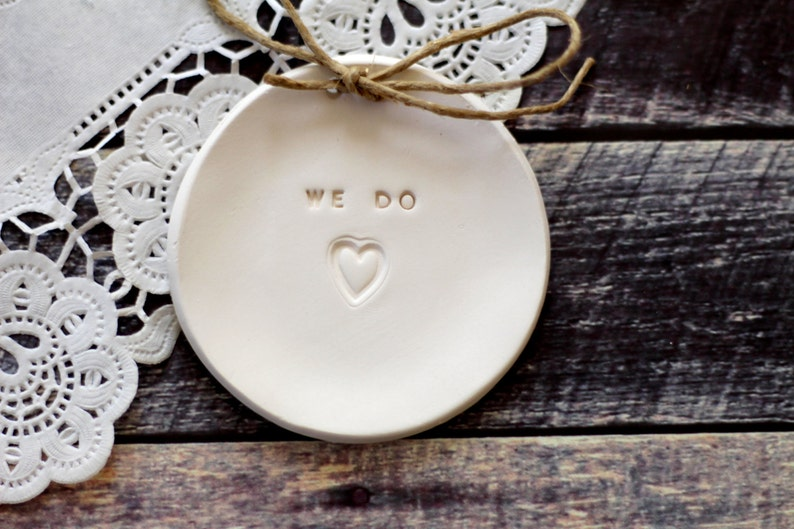 We Do Ring holder Bride to be gift Custom wedding gift Personalized wedding gift Gift for couple Personalized