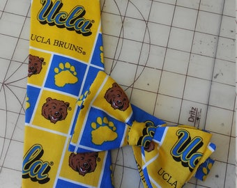UCLA Bruins Neckties in bow tie, skinny tie, and standard tie styles, kids or adult sizes