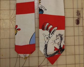 Dr. Seuss Horton and Cindy Lou Who Neckties in bow tie, skinny tie, and standard tie styles, kids or adult sizes