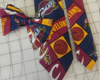 NBA Cleveland Cavaliers Neckties in bow tie, skinny tie, and standard tie styles, kids or adult sizes