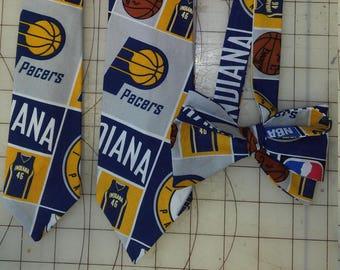 NBA Indiana Pacers Neckties in bow tie, skinny tie, and standard tie styles, kids or adult sizes