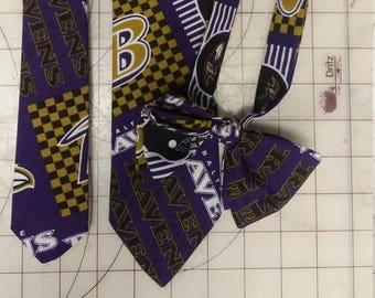 NFL Baltimore Ravens  Neckties in bow tie, skinny tie, and standard tie styles, kids or adult sizes