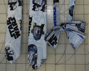 R2D2 Star Wars Neckties in skinny tie, and kid's skinny styles