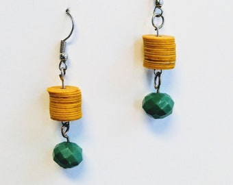 Vulcanite Earrings