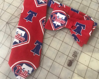 MLB Philadelphia Phillies  Neckties in bow tie, skinny tie, and standard tie styles, kids or adult sizes