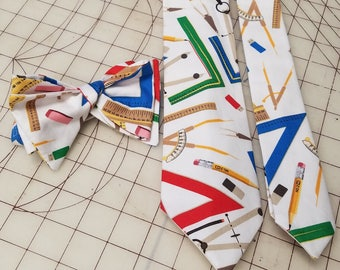 Mathematics Math Neckties in bow tie, skinny tie, and standard tie styles, kids or adult sizes