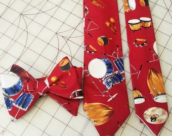 Red Drums Neckties in bow tie, skinny tie, and standard tie styles, kids or adult sizes
