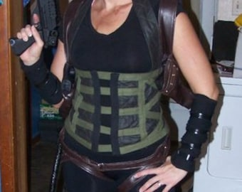 Resident Evil Alice Cosplay Corset and Gun Holsters