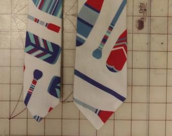 Paddle Neckties in bow tie, skinny tie, and standard tie styles, kids or adult sizes