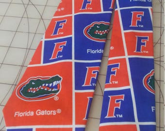 University of Florida Neckties in bow tie, skinny tie, and standard tie styles, kids or adult sizes