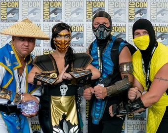 Mortal Kombat Scorpion and Raiden Cosplay Costumes