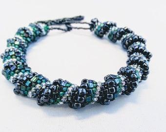 Hand-Beaded Bracelet
